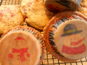 Wintery muffin liners.