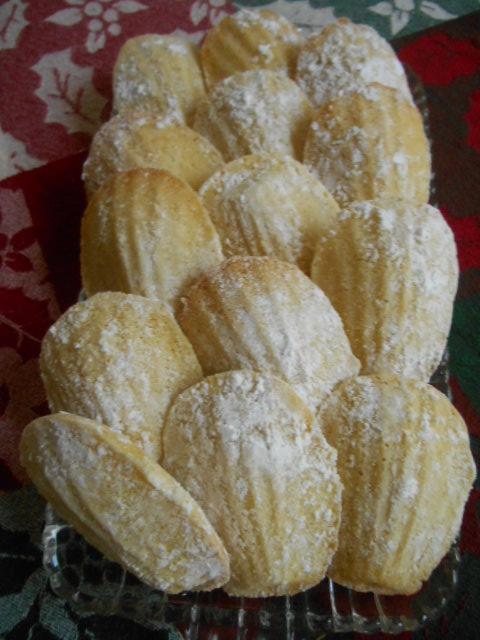 Fan Shaped Cookies...Madeleines!