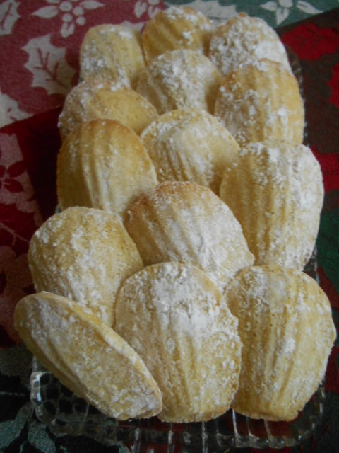 Fan Shaped Cookies...Madeleines!