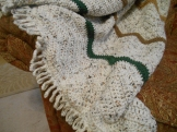 draped afghan detail