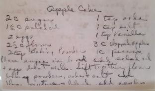 Grandma's apple cake recipe